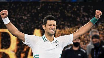 Novak Djokovic celebra una victoria