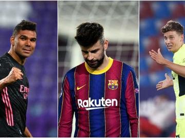 Casemiro, Piqué y Marcos Llorente