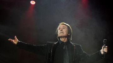 El cantante Raphael, durante un concierto el pasado diciembre.