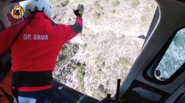 Rescate de los bomberos de Valencia a dos senderistas