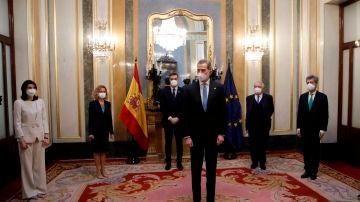 El rey Felipe VI en el acto por el 40º aniversario del 23F
