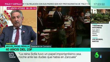 """Revilla explica """"el papel fundamental de la reina Sofía"""" en el 23F: """"Fue muy importante ante las dudas que existían en Zarzuela"""""""