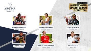 Nominados a los premios Laureus en la categoría de mejor deportista masculino