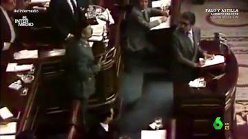 Vídeo manipulado - Lo que no se vio del 23F: así cantó Antonio Tejero en pleno Congreso