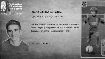 Mario Canales, canterano de 16 años de la SD Solares