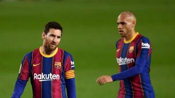Messi y Braithwaite
