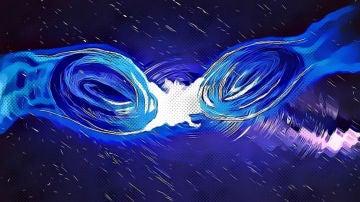 Onda gravitacional por fusion de agujeros negros o estrellas de bosones