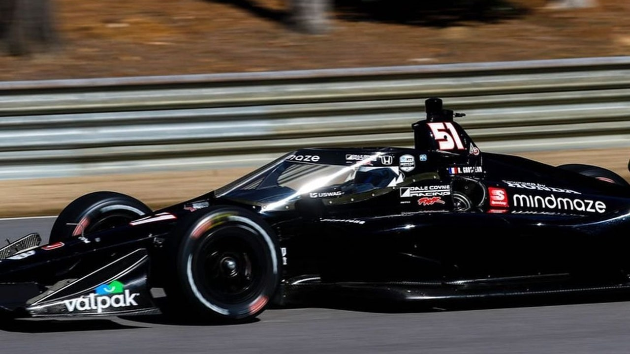 Romain Grosjean en los test de Alabama de la Indycar