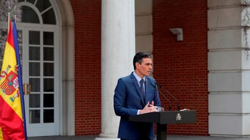 El presidente del Gobierno, Pedro Sánchez, en el Palacio de la Moncloa