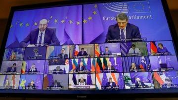 Imagen de los líderes del Parlamento Europeo durante una reunión