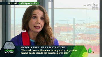 """Victoria Abril afirma que las vacunas contra el COVID-19 son en realidad """"terapias genéticas que no se han probado ni en ratones"""""""