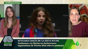 """Boticaria García desmonta en un minutos la """"sarta de mentiras"""" de Victoria Abril sobre el coronavirus y las vacunas"""