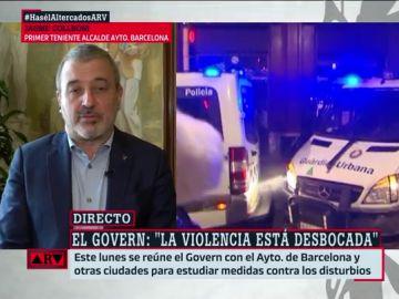 El primer teniente de alcalde del Ayuntamiento de Barcelona, Jaume Collboni, en ARV