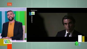 """El gesto de José María Aznar en su entrevista con Jordi Évole que deja alucinado a Dani Mateo: """"¿Os habéis dado cuenta?"""""""