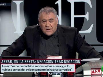 Ferreras responde a Aznar en ARV.