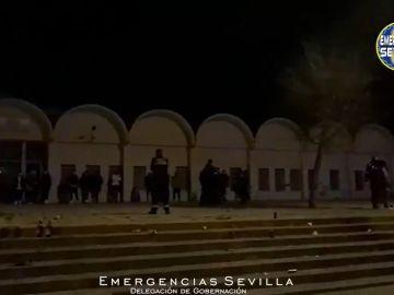 Botellón en Sevilla.