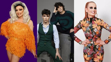 Supremme de Luxe, presentadora y Javier Calvo, Javier Ambrossi y Ana Locking, jurado de 'Drag Race España' en ATRESplayer PREMIUM