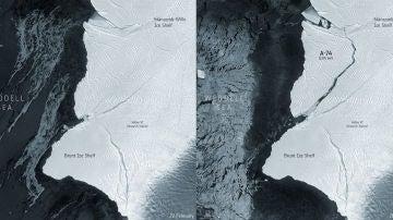 Un iceberg dos veces mas grande que Madrid se desprende de la Antartida