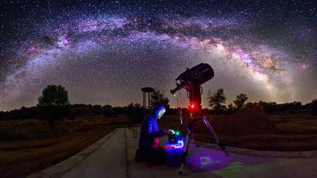 Paisaje Vía Láctea