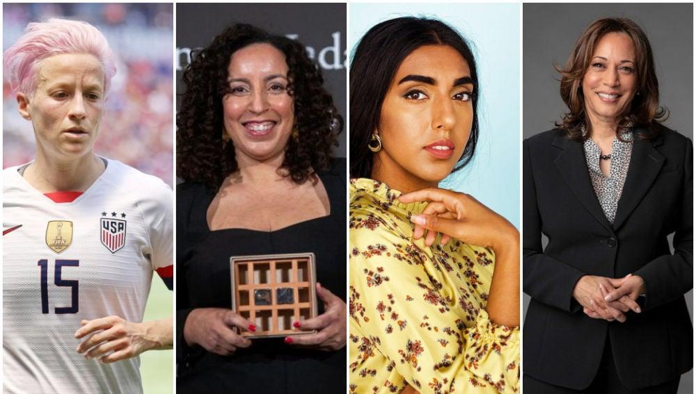 Megan Rapinoe, Najat El Hachmi, Rupi Kaur y Kamala Harris