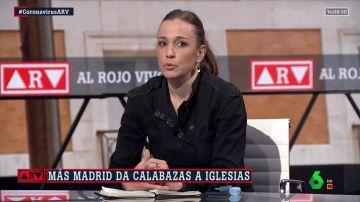 Tania Sánchez, diputada de Más Madrid, en Al Rojo Vivo