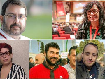 De izquierda a derecha: Ástor García, Anabel Segado, Cristina Vitores, Ricard-Andreu Juan y Guillermo Úcar.