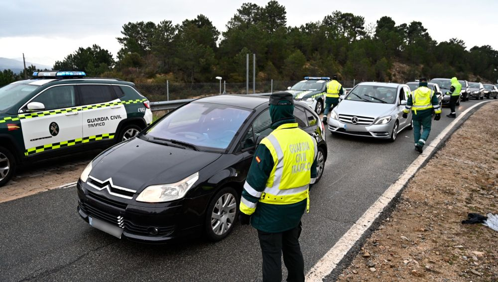 Control de la Guardia Civil en Madrid