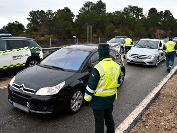 Control de la Guardia Civil en Madrid