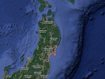 Terremoto frente a la costa de Miyagi