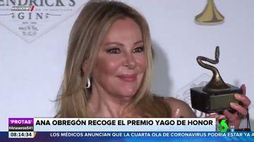 """Ana Obregón dedica el Yago de Honor a su hijo: """"Allá donde esté, va a estar muy feliz"""""""