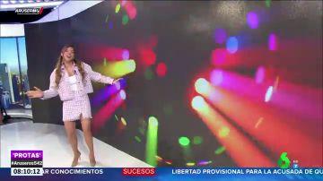 Los colaboradores de Aruser@s se arrancan a bailar 'bésame, bésame', la nueva canción de Maite Galdeano