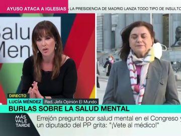 """El """"calvario"""" de Lucía Méndez en su conexión en directo con Mamen Mendizábal: desde inesperados ruidos a ráfagas de viento"""