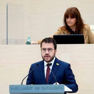 Pere Aragonès en el debate de investidura
