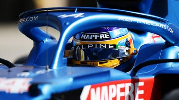 Fernando Alonso, en el Alpine