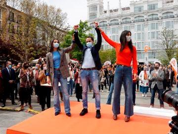 Inés Arrimadas y Begoña Villacís arropan a Edmundo Bal como candidato para la Comunidad de Madrid
