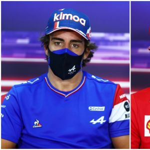 Fernando Alonso y Carlos Sainz en el GP de Baréin
