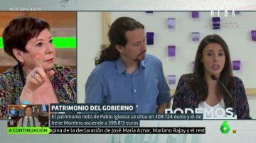 """Celia Villalobos: """"Me sorprende que Pablo Iglesias e Irene Montero tengan un fondo de pensiones, es muy capitalista"""""""