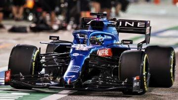 Fernando Alonso en el GP de Bahréin