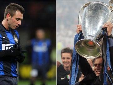Antonio Cassano y José Mourinho