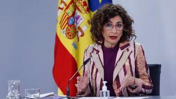 La ministra de Hacienda y Función Pública, María Jesús Montero