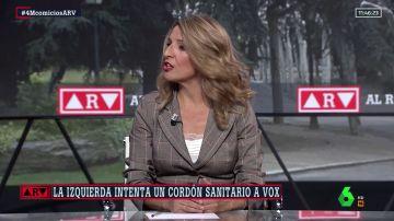 """Yolanda Díaz cree que """"el PP se está equivocando"""" al no rechazar a Vox e insta a seguir el ejemplo de Feijóo"""