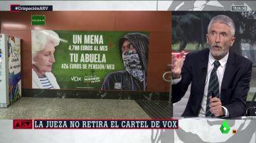 """El ministro Marlaska llama a poner """"límites"""" a los discursos """"antidemocráticos"""" de Vox"""