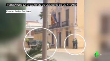 Confunden un rodaje con un atraco en el Ayuntamiento de Alginet