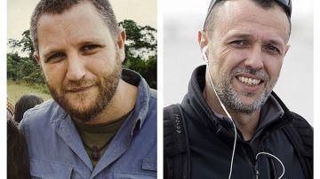 Los periodistas españoles David Beriain (izquierda) y Roberto Fraile (derecha)