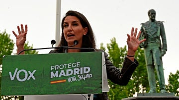 La candidata de Vox a la Comunidad de Madrid, Rocío Monasterio