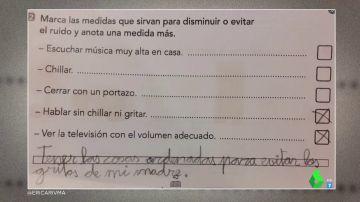 """""""Tener las cosas ordenadas para evitar los gritos de mi madre"""": la inocente respuesta de un niño sobre qué hacer para reducir el ruido"""