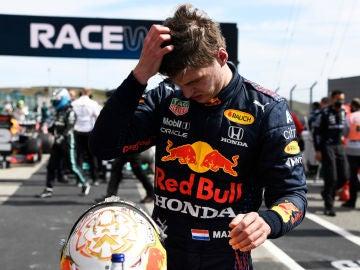 Max Verstappen, contrariado