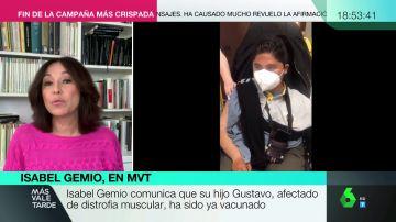 """Isabel Gemio, emocionada por la vacunación de su hijo, con distrofia muscular: """"Está feliz"""""""