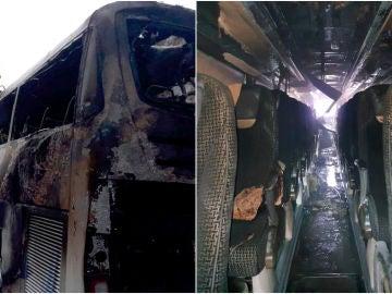 Evacúan un autobús incendiado lleno de jugadores de entre 13 y 16 años en Alicante