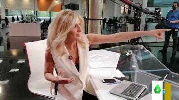 Sandra Golpe desvela en Zapeando por qué siempre la pillan mirando a la derecha en pleno informativo